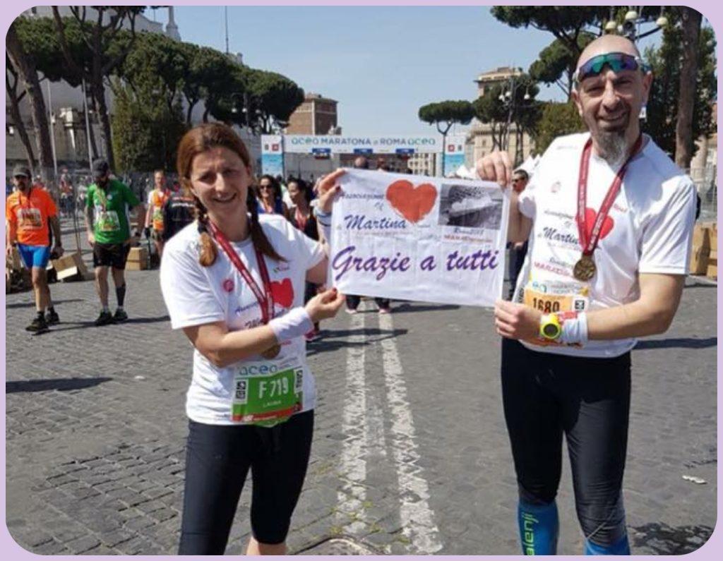 maratona di roma per il cuore di martina